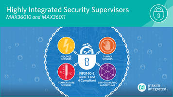 New Single-Chip Security Supervisors from Maxim Support Both Symmetric and Asymmetric Cryptographic Functions
