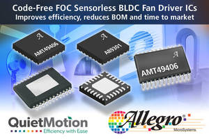 Latest QuietMotion BLDC Fan Drivers are Embedded with Windowless Sinusoidal Algorithm