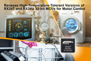 New RX24T G Version and RX24U G Version MCUs Operates in High-temperature Spaces and on Hot Circuit Boards