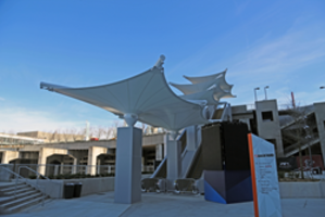 New Home Depot Backyard Fabric Structures to Shelter Super Bowl Attendees this Sunday