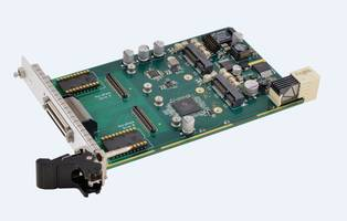acromag's new acps3310 3u cpci serial mezzanine module carrier card  interfaces two ruggedized mpcie analog i