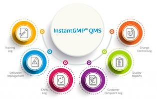 InstantGMP's New QMS Quality Management System Streamlines, Enhances and Automates Workflow for Quality-related Actions