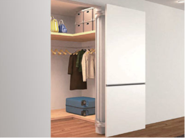 Sugatsune Introduces Customizable Hooks as well as Lateral Opening Door Systems at 2019 KBIS and IBS Show