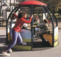 New We-Go-Round Spinner Designed to Accommodate Children and Families of All Abilities