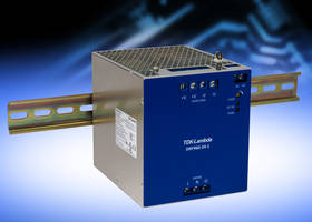 New DRF960-24-1 DIN Rail Power Supply Withstands Surges Up to 300 Vac for 5 Seconds
