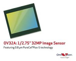 OmniVision Introduces OV32A Image Sensor Built on PureCel Plus Stacked Die Technology