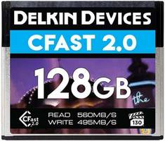 Delkin Introduces 128GB VPG-130 CFast 2.0 Memory Card with Recording Speed up to 495MB/s and Sustained Write Speed of 130MB/s