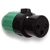 New AAA Series XLR Connectors Feature a Two-piece Design with Integral Strain Relief for Quick Assembly