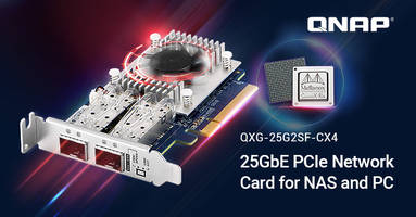 QNAP Launches Dual-port 25GbE QXG-25G2SF-CX4 and 10GbE QXG-10G2SF-CX4 Network NIcs Features Mellanox ConnectX -4 Lx SmartNIC Controllers
