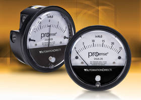 New ProSense DGA Differential Pressure Gauges are Designed for Use with Air and Compatible Non-Combustible Gases