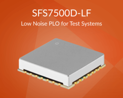 Z-Communications' New SFS7500D-LF is a Plug and Play PLO that Allows for Fast Integration and Operates in X-band