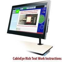 Latest CableEye Automation-Ready Cable and Harness Testers Automatically Displays a Graphic of Connectors and Wires under Test
