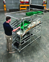 Latest Flow Rack Comes with ESD Skatewheel Conveyor Rollers