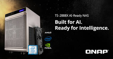 QNAP's New TS-2888X AI-Ready NAS Combines Storage, Computing and AI Software Environment to Reduce Time and Complexity of Managing AI Tasks