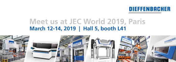 Customized Plants from One Source Dieffenbacher to Exhibit at JEC World 2019