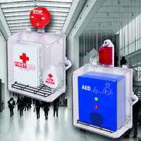 New MED Polycarbonate Cabinets Protect Automated External Defibrillators, Blood Kits, Medical Kits and First Aid Supplies