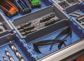 Rockler Expands Lock-Align Drawer Organizer System with New Lock-Align Wall Brackets, 4-Way Divider Bins, Wide Bin, Liner and Standard Trays