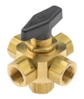 """New 845 Series 3/8"""" Five-way Valve Features 90-Degree Ported Ball with .312"""" Through Hole Diameter"""