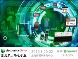 Greenliant Brings Full Industrial and Enterprise Storage Lineup to Electronica China 2019
