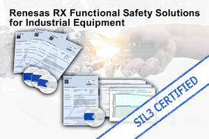 Renesas Presents RX Functional Safety That Offers Mutual Fault Diagnosis for Dual-Microcontroller Structure
