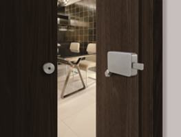 Unison Hardware's New INOX Surface-mounted Barn Door Lock is Designed for Easy Installation