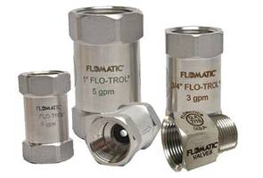 """New Flo-Trol CD900 Flow Control Valve Available In Five Different Sizes (3/8"""" thru 1"""") and 58 Different Flow Ranges (0.25 GPM to 30 GPM)"""