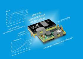 New Non-isolated Digital IBC BMR490 DC-DC Converter Offers High Efficiency of 97.3%, at 53V Input and Half Load