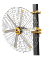 New Big Ass Fans Pivot 2.0 with 6-ft Diameter and Powerful Motor, Cools Air up to 120 Feet from Fan