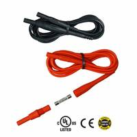 New Set of Two Red and Black Test Leads Essential to The Technicians Exposed to Potentially Lethal Currents in High Energy Environments