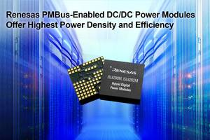 New 10-amp ISL8280M and 15-amp ISL8282M Hybrid Digital Power Modules Offer Power Density of 115mA/mm2 in a 12mm x 11mm Package with up to 95 Percent Peak Efficiency