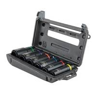 New 2-in-1 Impact Socket Set Includes 12 Impact Socket Sizes and Carrying Case for Convenient Storage