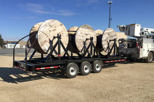 Felling's Triple Reel Trailer is Cooperative's Cable Deployment Solution