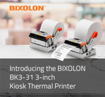 BIXOLON Presents BK3-31 Kiosk Thermal Printer with Print Speeds of Up to 250 mm/sec