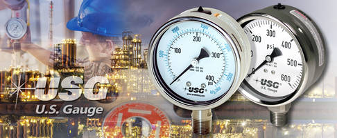 Maximize Your Chemical Production with AMETEK U.S. Gauge Liquid Filled Pressure Gauges