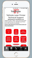 New Smartphone Tool TekSuite Built for Professional Printer Service Technicians that Repair HP and Lexmark Laser Printers