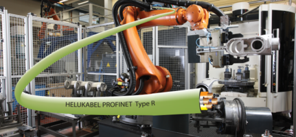 New HELUKAT PROFINET Type R Torsion Withstands More than Five Million Torsion cycles under loads of +/-180 degree/m