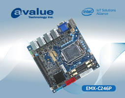 Avalue EMX-C246P Embedded Motherboard with Onboard Infineon SLB9665 TPM 2.0