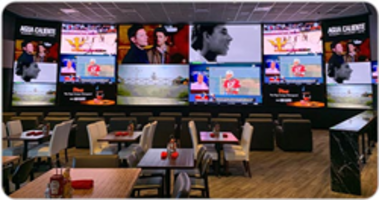 Christie Spyder Image Processors Drive Large-scale LED Displays at Agua Caliente's New 360 Sports Bar and Restaurant