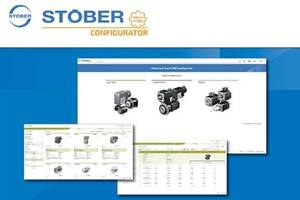 New STOBER FITS with STOBER Configurator Quickly and Easily Search for Gear Units, Geared Motors and Motors
