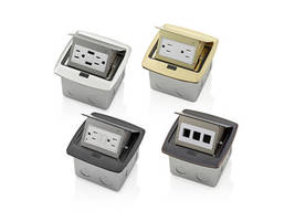 New Pop-Up Floor Box Devices Available in Brushed Nickel, Black, Brass and Bronze Finishes