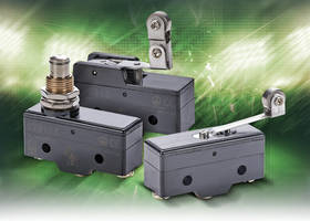 New Snap-Action Micro Limit Switches Available in Plunger and Lever Actuator Styles