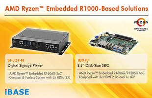 IBASE Announces IB918 3.5-inch SBC and SI-323-N Digital Signage Player Features Three HDMI