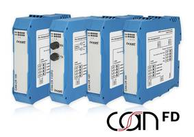 New Ixxat CAN FD Repeaters with Slim Plastic Housings for DIN Rail Mounting