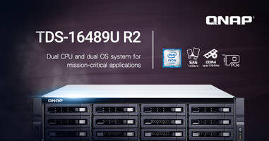 New TDS-16489U R2 NAS Provides 4 2.5-inch Drive Trays at The Rear to Provide SSD Caching