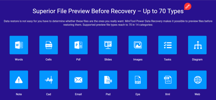 MiniTool Releases Power Data Recovery 8.5 Software That Supports Images and File Formats in 14 Categories