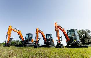 Doosan Presents Mini Excavators with an Enclosed Cab and Open Canopy Configuration