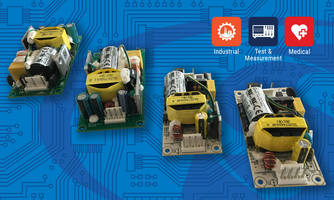 New Open Frame Power Supplies with Output Voltages Ranging from 5 to 48 V