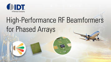 New RF Beamforming Portfolio Enables Signals to be Shaped and Pointed at Objects