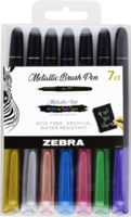 New Zebra Metallic Brush Pen is Offered with Medium Tip