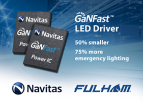 Navitas' GaNFast™ Enables 2x Shrink and 75% More Emergency Lighting